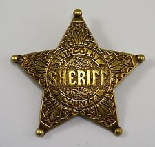 Gold Lincoln County Sheriff Badge - Ranger/Police/Cowboy Wild West Western US