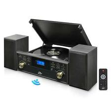 New Vintage Classic Bluetooth Turntable W/ 2 Speakers System Vinyl/MP3 Recording