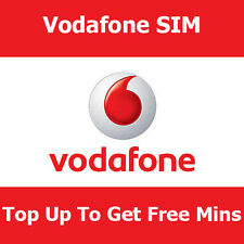 Std Vodafone pay as you go tarjeta SIM para todos los teléfonos Top up to get free Min