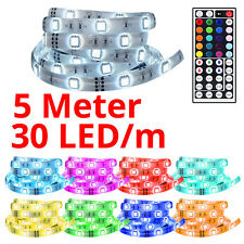 5m LED Leuchtband Strip Leiste SMD 5050 Lichterkette Band Wasserfest Stripe RGB
