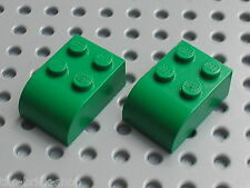 LEGO Green bricks Brick 2 x 3 with Curved Top ref 6215 / Set 9719 6187 7636 4225