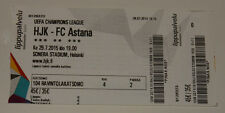 Ticket for collectors CL HJK Helsinki - FC Astana 2015 Finland Kazakhstan