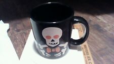 Halloween Skeletons on Black Mug 12oz Waechtersbach Germany New