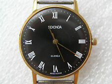 VINTAGE WATCH LUCH ULTRA SLIM SEKONDA 23 Jewels! GOLD PLATED