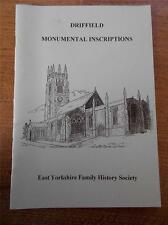 DRIFFIELD MONUMENTAL INSCRIPTIONS Church yard E Yorkshire Family History Society