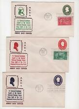 US FDC 15 Embossed Envelopes Special Cachets 1950-1964 All Unaddressed |