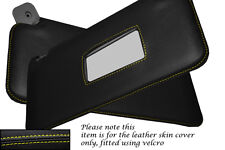 YELLOW STITCHING FITS FIAT PUNTO MK1 93-99 2X SUN VISORS LEATHER COVERS ONLY