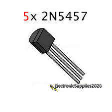 5x 2N5457 JFET N-Channel Transistor, USA Fast Shipping