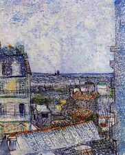 View Of Paris From Vincents Room In The Rue Lepic 1887 A3 Box Canvas