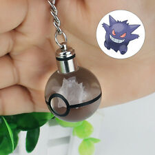 3D LED Nocturna Luz Regalo Llavero Key ring Crystal Ball Pokemon Pokeball Gengar