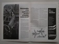 10/1981 PUB BRITISH AEROSPACE AERITALIA MBB PANAVIA TORNADO IDS ADV PVA49 AD