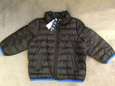 GAP -BLACK JACKET WITH BLUE LINING & LIGHT QUILTING- WATER RESISTANT-18-24m BNWT