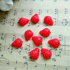 NEW 10pcs Cute Resin Strawberry Red flatback Scrapbooking For DIY phone /craft