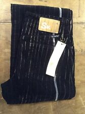 Seal Kay black pin striped corduroy womens boot cut trousers 26' 32L