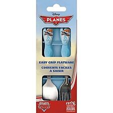Disney Planes 2 Piece Flatware (Folk and Spoon) Set easy to gasp handles-New!
