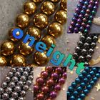 2mm 3mm 4mm 6mm 8mm 10mm Gold Silver Colorful Violet Hematite Round Loose Beads