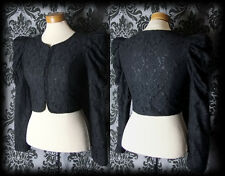 Goth Black Lace Fitted SPELLBOUND Puff Shoulder Jacket 10 12 Victorian Steampunk