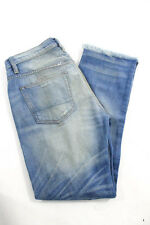 NSF Blue Cotton Straight Leg Distressed Wash Jeans Size 27 New