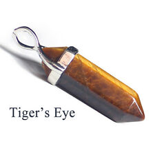 Natural Tiger's Eye Gemstone Hexagonal Reiki Chakra Healing Pendant For Necklace