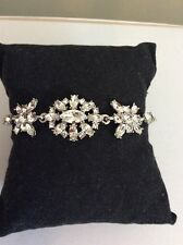 $78 Givenchy Murray Silver Tone Crystal Cluster Bracelet GV 205