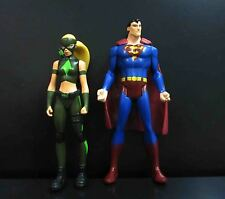 "lot of 2 DC Universe Young Justice League ARTEMIS  SUPERMAN ACTION FIGURE 4"" #g"