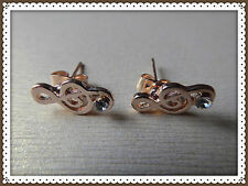 Luxurious Elegant Music Note Stud Earrings,Valentines/Mothers DayGift Idea