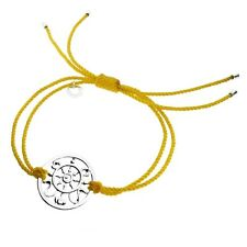 Truth Continuity Sterling Silver and Yellow Cord Bracelet*Brand New*Gift Boxed