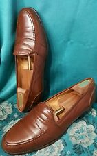 Bragano Italy Brown Leather Slip On Loafer Dress Shoe SZ 11N. EXCELLENT CONDITI