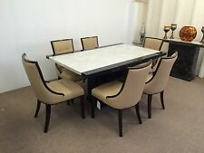 Marble Dining Table 160cm Size And 6 Chairs**Grand Designs**unbeatable Prices**