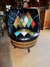 MID  CENTURY  WISKEY  BARREL   SWIVEL  CHAIRS
