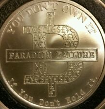 Bitcoin Paradigm 1 oz .999 silver shield BITCON SBSS no longer minted bitcoin