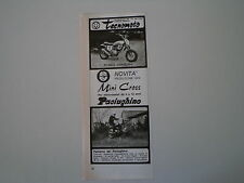 advertising Pubblicità 1973 MOTO TECNOMOTO MINI CROSS/PACIUGHINO