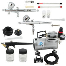 OPHIR 0.2mm 0.3mm 0.5mm 0.8mm 3-Airbrush Air Compressor Kit for Temporary Tattoo