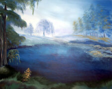 "ROBERT M. DOMINY Misty Morning Art Print, Direct from the Artist 16"" x 20"""
