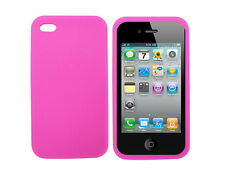 Rose silicone peau cas couverture pour Apple iPhone 4 4G UK