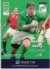 IRELAND v WALES 2000 RUGBY PROGRAMME