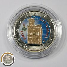 San Marino 2012 Regierungspalast Palazzo colorierte 2 Euro Münze Farbmünze (507
