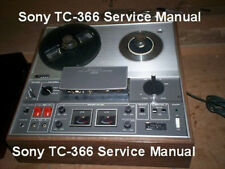Sony TC-366 REELTO REEL SERVICE  MANUAL ON A CD IN A HARD CASE FREE SHIPPING