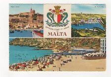 Malta Coat Of Arms Postcard 210b