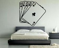 Vinyl Wall Decal Sticker Design Playing Cards Casino Decor Chance Games VY277