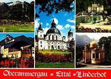 Oberammergau - Ettal - Linderhof , Ansichtskarte, 1981 gelaufen