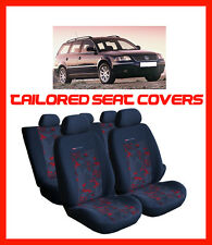 VW PASSAT ESTATE B5  TAILORED SEAT COVERS  FULL SET   grey/red (125)
