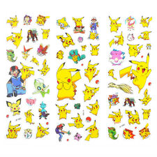 3pcs Pokemon Stickers Pikachu Pocket Monster Scrapbooking Sticker Sheet Toy