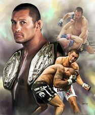 Dan Henderson : giclee print on canvas poster painting for autograph  B-0161
