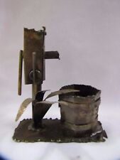 Antique Copper Figurine Hand Water Pump Figurine Sculpture Folk Art