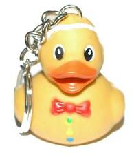 ADORABLE GINGERBREAD MAN RUBBER DUCK KEY CHAIN (KC082)