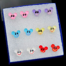 Jewelry Wholesale 6 PAIRS Lovely Simle Mickey Mouse Earrings ED231