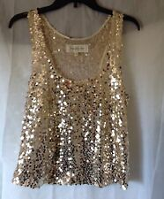 Abercrombie & Fitch Women Tank Top Sz M Sequin Embellish