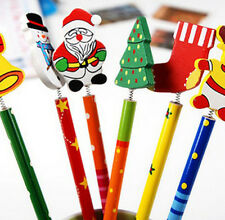 6PCS & 6Style/Set Xmas Pencil Creative Korean Wooden Children Stationery Pencil
