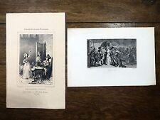 CHARLOTTE CORDAY Lot de 2 gravures du 19e siècle